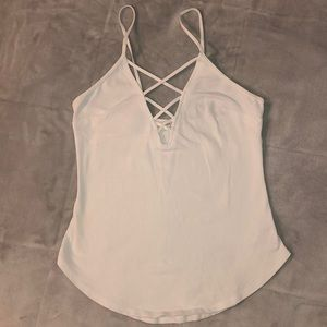 Brand New White Express Cross Front Top